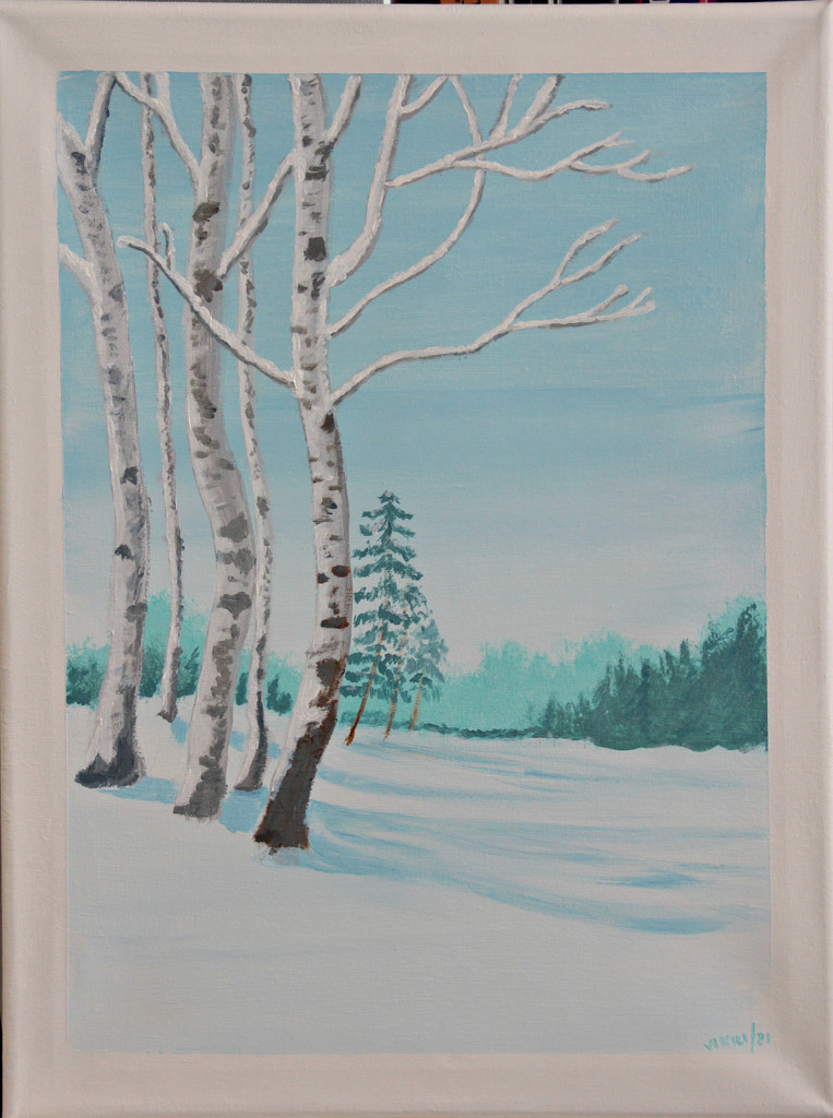 winter woods by summerfield
