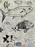 29th Jan 2021 - Fishes and hearts drawings.