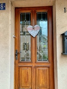 1st Feb 2021 - White heart on brown door.