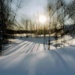 Snow Covered River by farmreporter