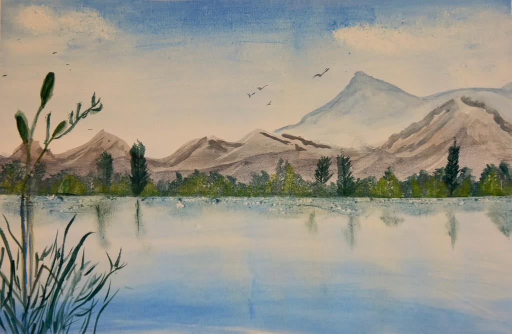 EXTRAS:  Mountain Watercolour by casablanca