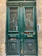 2nd Feb 2021 - Hearts on green door.