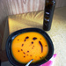Pumpkin soup with pumpkin seed oil