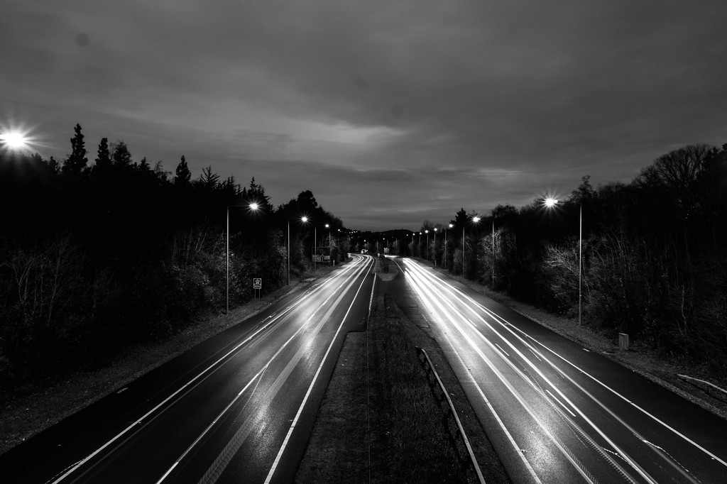 Lonely light trails by m2016