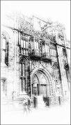 5th Feb 2021 - John Ryland Library in Manchester for the architecture b&w theme for 2021