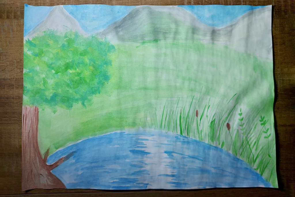 """My daughter's drawing """"Brush painted"""" by nmamaly"""