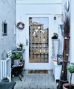 6th Feb 2021 - White hearts on white door.