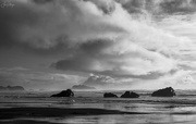 5th Feb 2021 - Black and White Clouds and Rocks