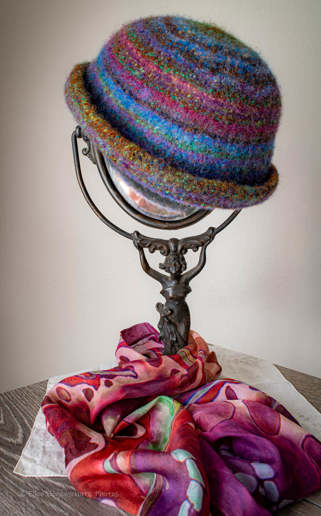 Hat, Scarf, And Antique Mirror by theredcamera