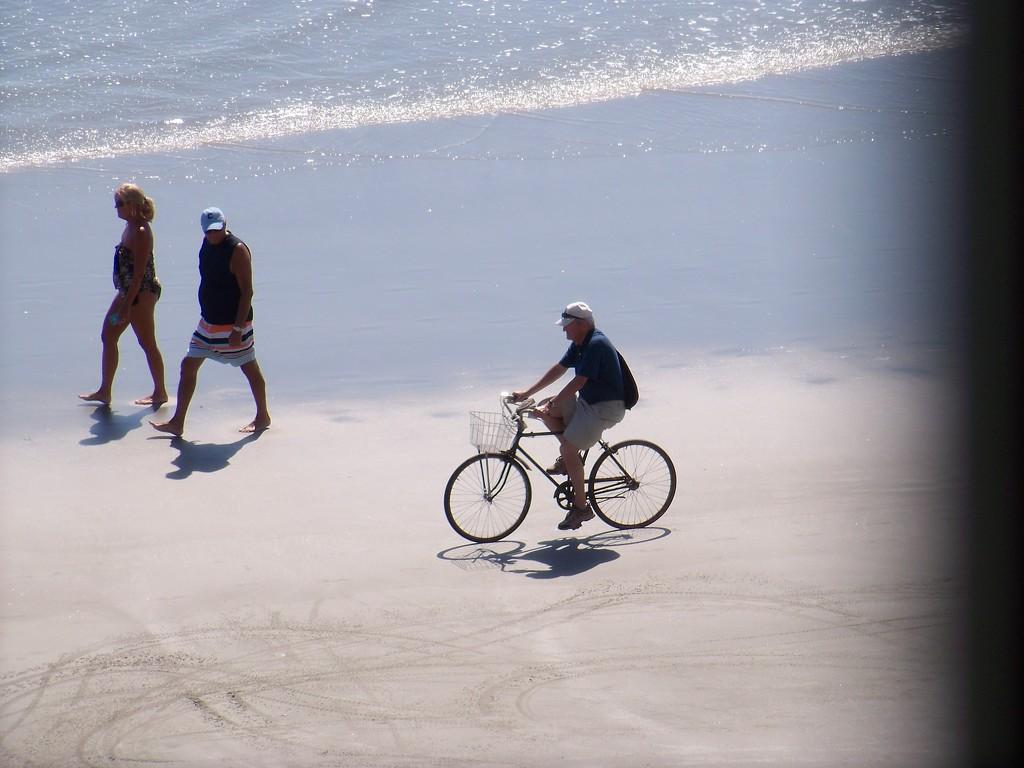 Original biking on the beach... by marlboromaam