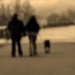 Out of Focus - Couple & Dog