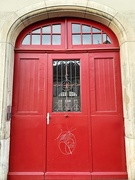 8th Feb 2021 - Three red hearts on a red door.