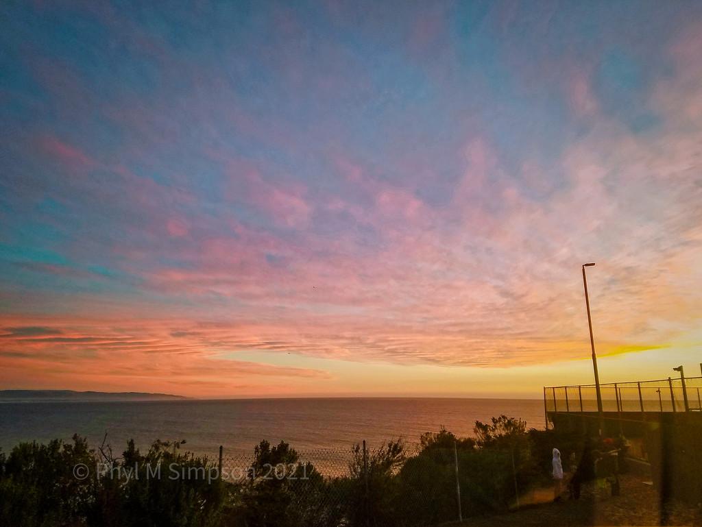 Tennis Seaside at Sunset by elatedpixie