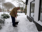 9th Feb 2021 - hubby, digging a path through the snow