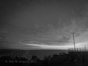 6th Feb 2021 - Tennis Seaside At Sunset In BnW