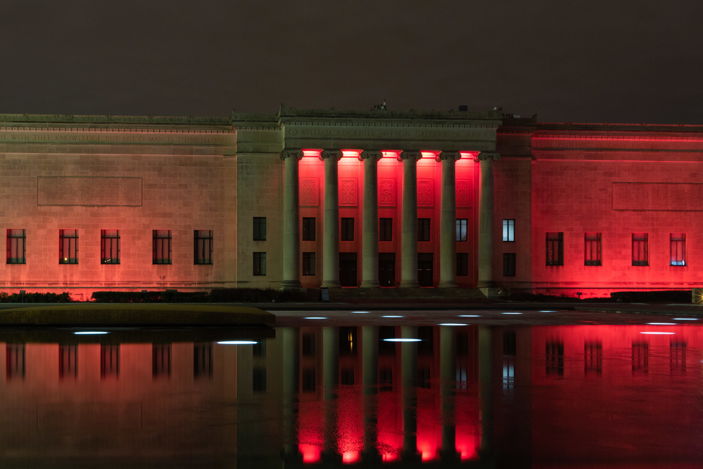 Back of Nelson Atkins Museum of Art by photograndma