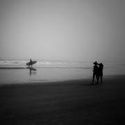 10th Feb 2021 - Surfer on foggy day