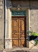 13th Feb 2021 - Hearts above a brown door.