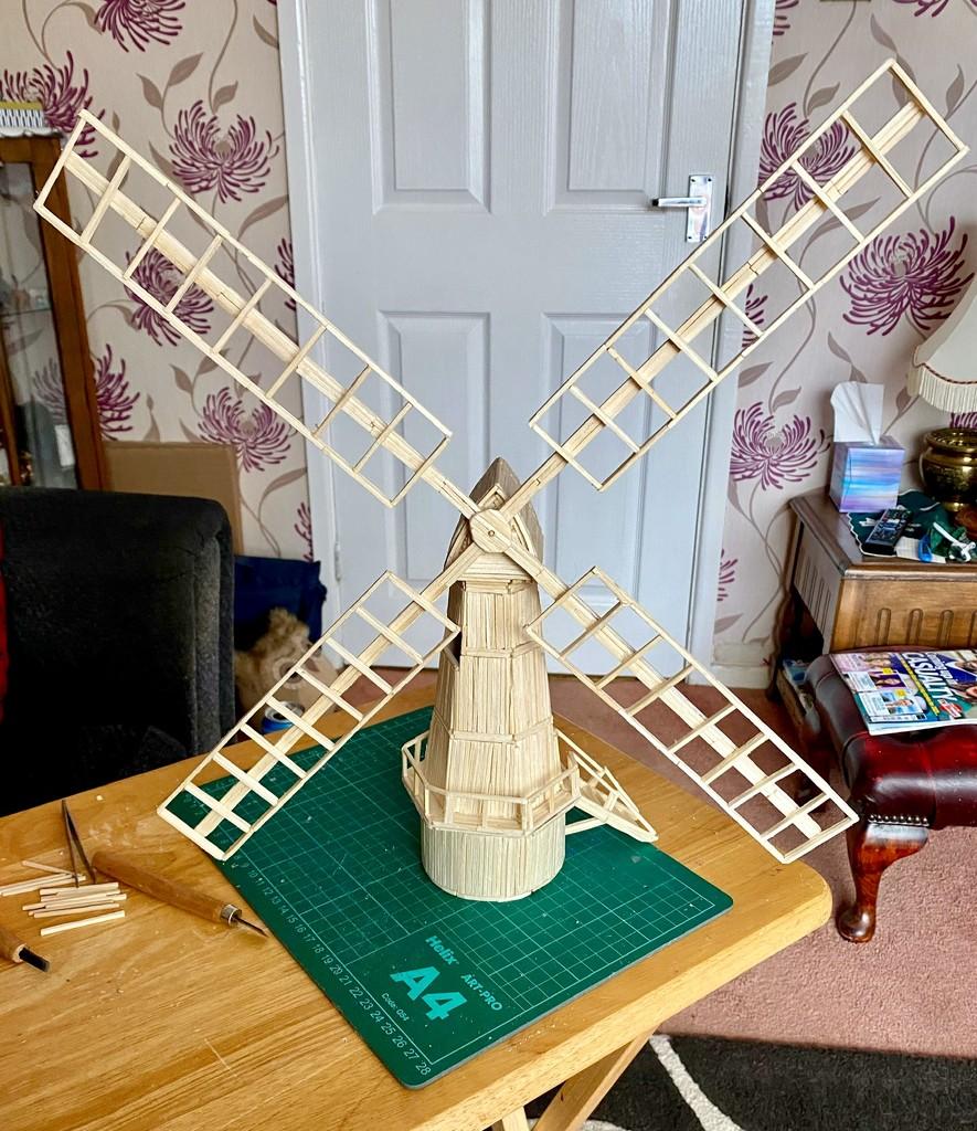 Matchstick Windmill by gillian1912