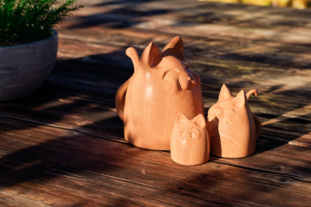 Wooden Cats by humphreyhippo