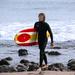 Surfer at Topanga Beach