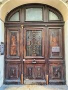 17th Feb 2021 - Hearts on a big brown door.
