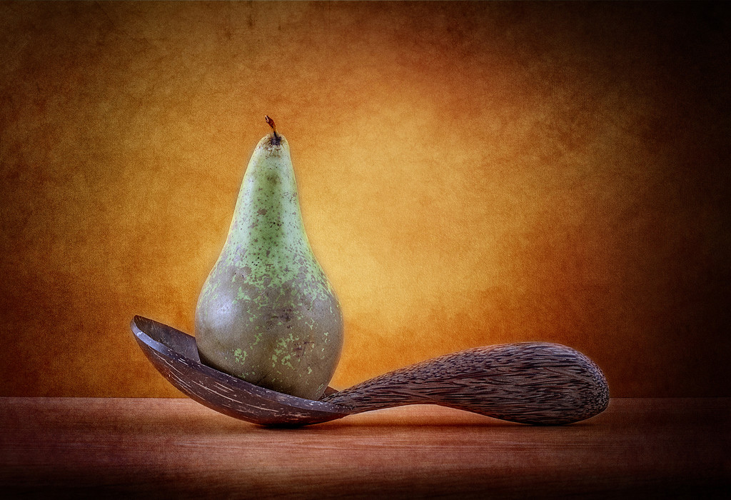 A Pear On A Spoon by stoat
