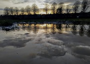 15th Feb 2021 - Sunset in puddle