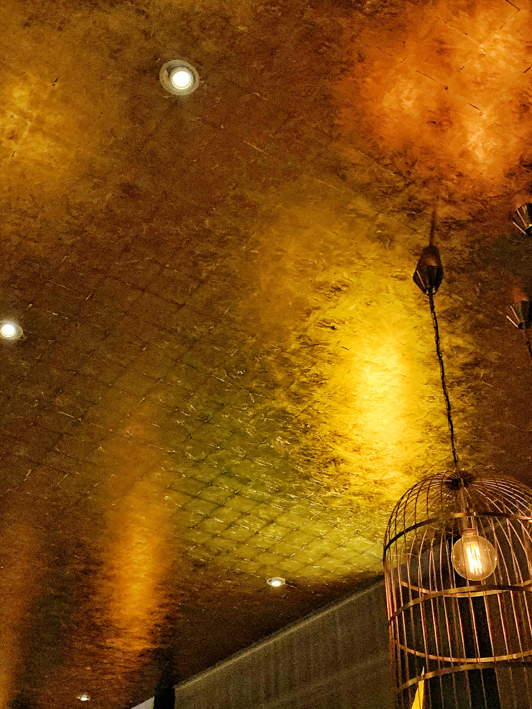 Gold ceiling.  by cocobella