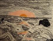 17th Feb 2021 - Crayon seaside sunset