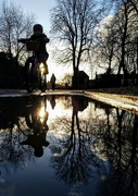 18th Feb 2021 - Cycling through the puddles