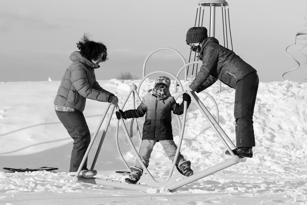 Snowy Playground by sarahsthreads