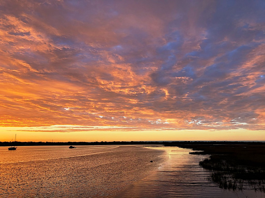First sunset in a week by congaree