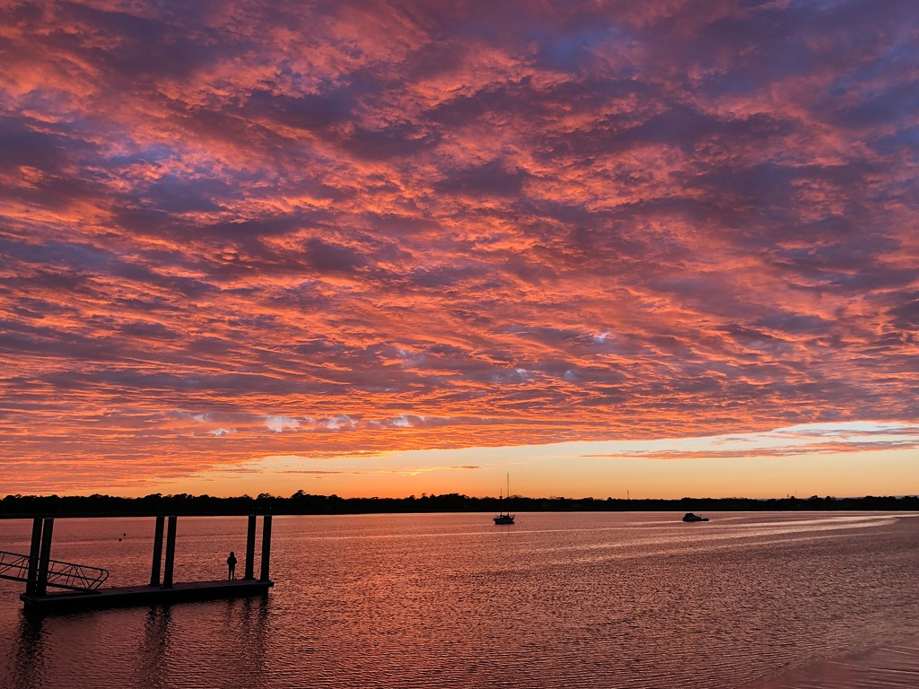 It's been cold and gray with lots of rain for a week.  Yesterday I saw  the first sunset in awhile.  Spectacular! by congaree