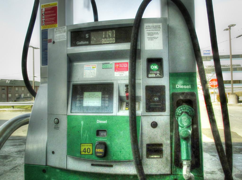 Gas pump by mittens