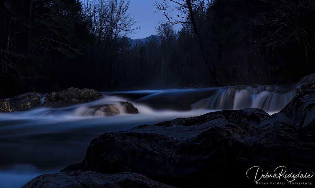 Greenbrier Park Smoky Mountains at Night by dridsdale