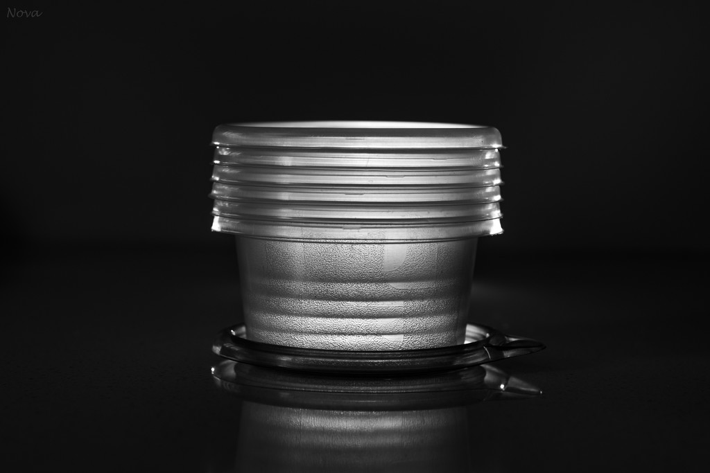 6 containers 1 lid by novab