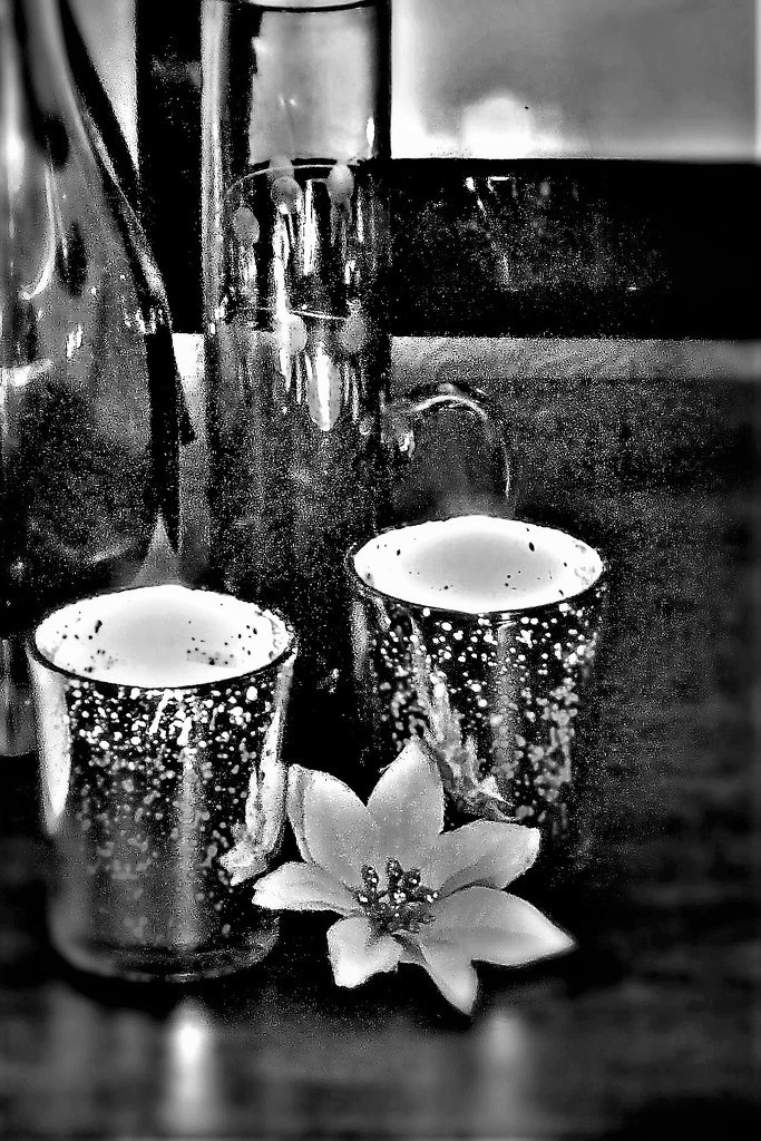 Glass and candle-light  by beryl