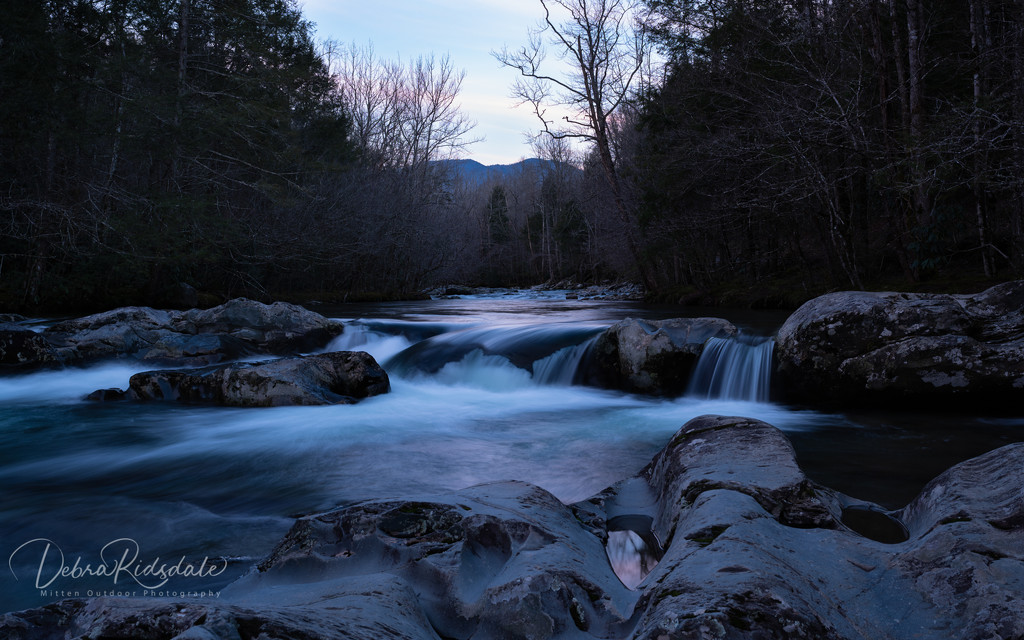 Twilight on Little Pigeon River by dridsdale