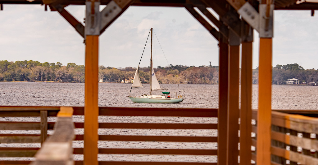 Sailboat Passing the Pier! by rickster549