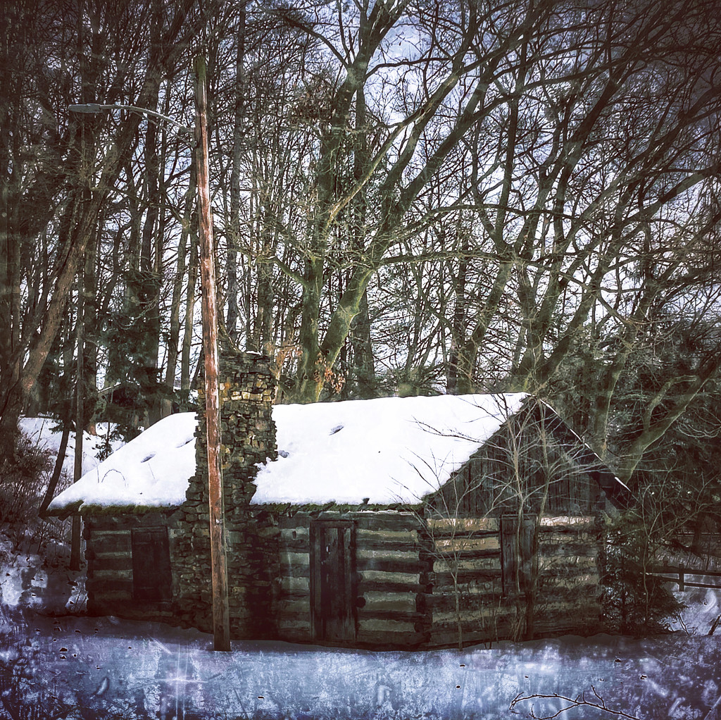 Snow Topped Cabin by not_left_handed