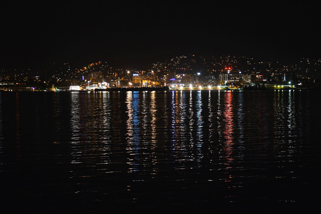 Hobart, Tasmania, Australia at night  by kgolab