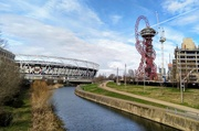 24th Feb 2021 - River Lea, Olympic Stadium and ArcelorMittal