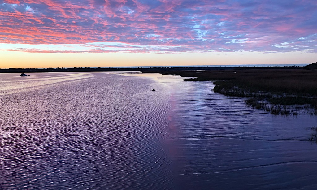 Sunset at low tide  by congaree