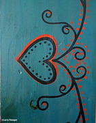 22nd Feb 2021 - Hand painted mirror frame 1