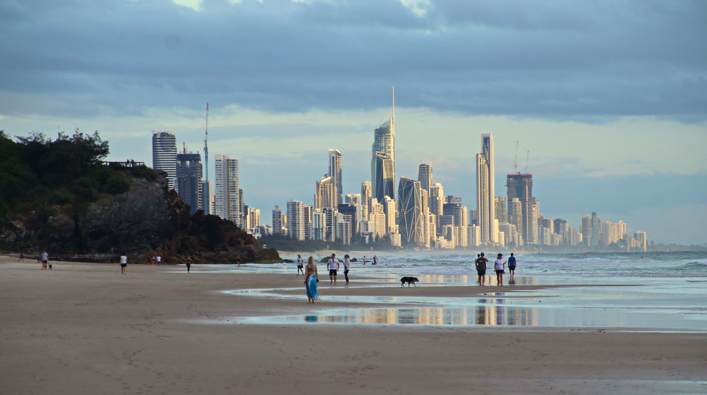 Surfers paradise in the Distance by terryliv
