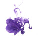 Purple ink in water