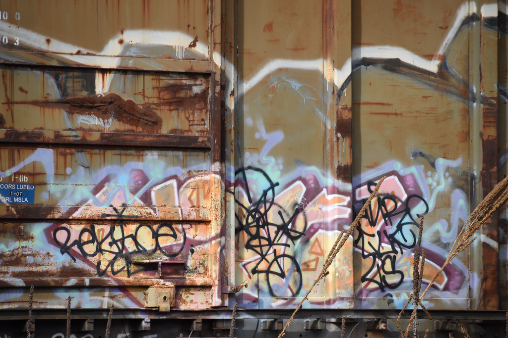 Train Graffiti - Color Version by bjywamer