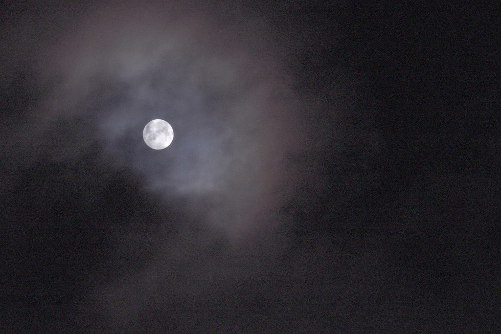 4 a.m. Moon Over Montana by bjywamer