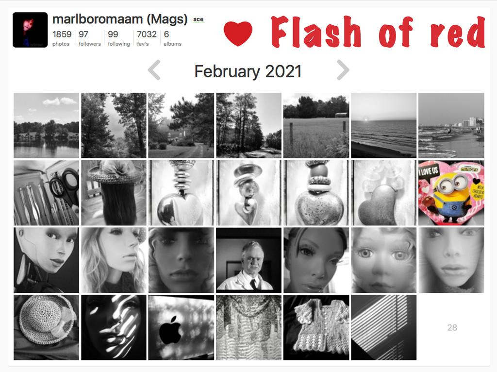Flash of Red Calendar... by marlboromaam